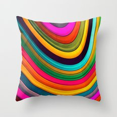 More Curve Throw Pillow
