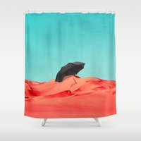 oasis Shower Curtains featuring Oasis by SUBLIMENATION