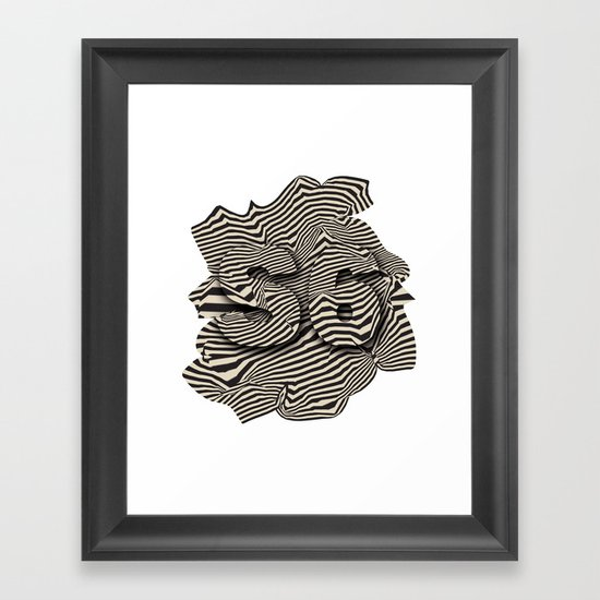 striated Framed Art Print