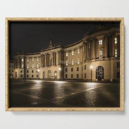 Berlin Humboldt University at Night Serving Tray