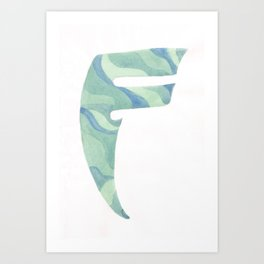F for Feeling Fine Art Print