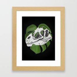 Leafy Rex Framed Art Print