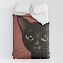 Black in red Comforters