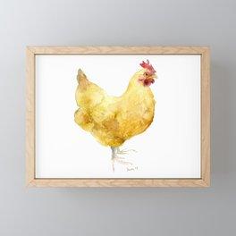 Buff Orpington Hen- Chicken watercolor Painting Framed Mini Art Print