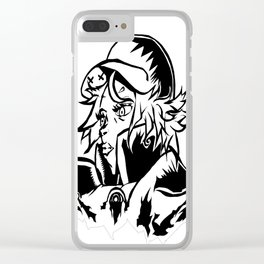 Red EMPEROR Clear iPhone Case