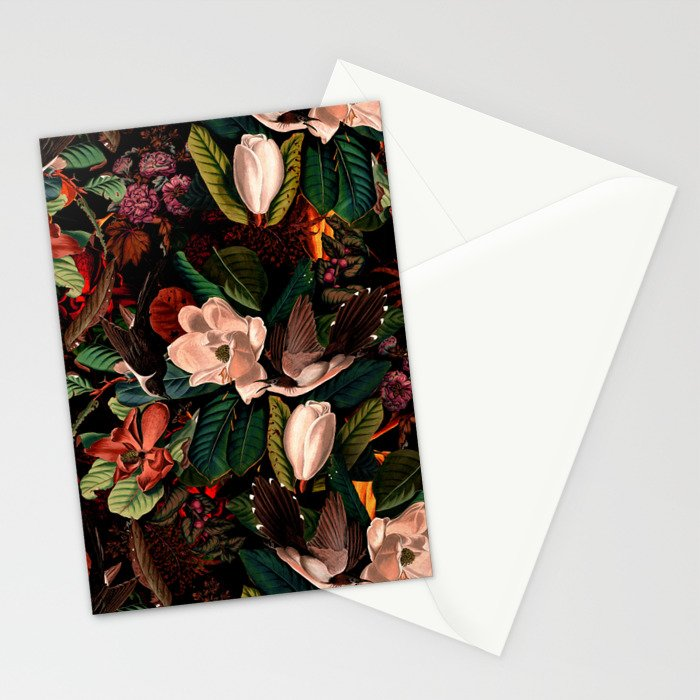 FLORAL AND BIRDS XIV Stationery Cards