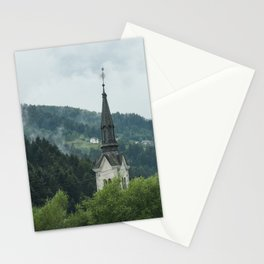 Church Steeple in the Fog Stationery Cards