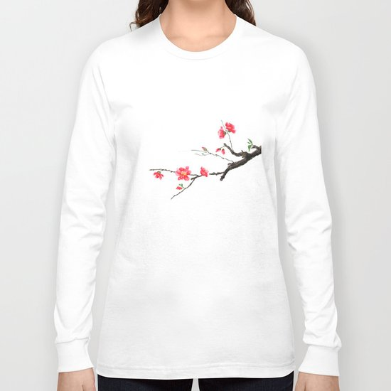 red Japan begonia Long Sleeve T-shirt