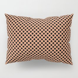Copper Tan and Black Polka Dots Pillow Sham