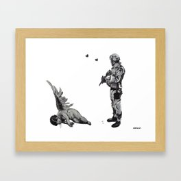 Banksy Soldier With Fallen Angel Artwork Reproduction for Prints Posters Tshirts Men Women Kids Framed Art Print