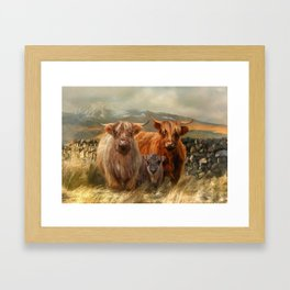 Hairy Coo's Framed Art Print