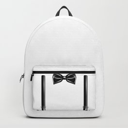 Bow Tie With Suspenders Funny Wedding Gift Backpack