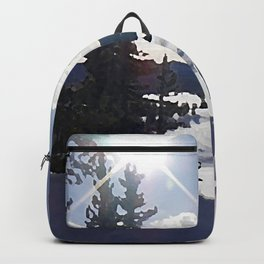 Two Horses in the Snow Backpack
