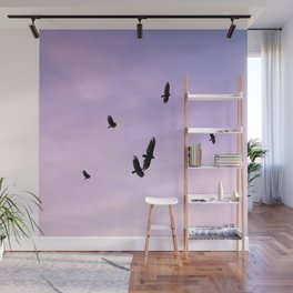 Hawks and Sunset Wall Mural