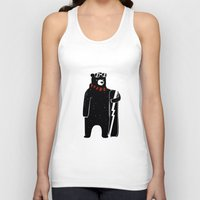 snowboard Tank Tops featuring Bear on snowboard by SpazioC
