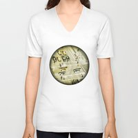 escher V-neck T-shirts featuring Escher Intersection by Vin Zzep