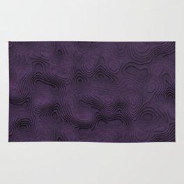 Dark Lilac Wavy Relief Rug