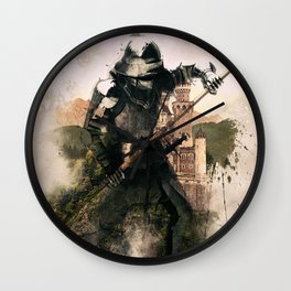 Medieval Knight of the Old Ages Wall Clock