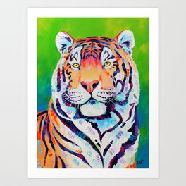"Tiger art ""Shining Bright"" Art Print"