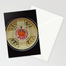 Custom Car Instrument Design with Lucky Roulette Wheel Stationery Cards