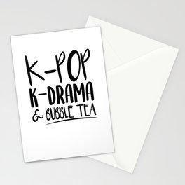 Kpop Kdrama Bubble Tea Stationery Cards