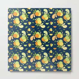 Citrus Splash Metal Print