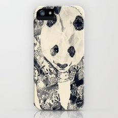 Tattooed Panda {cream} iPhone (5, 5s) Slim Case