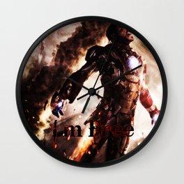 I'm Free. Iron Man Wall Clock