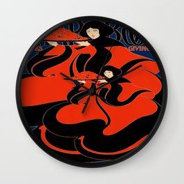 Art Nouveau Lady : The Chap Book Wall Clock