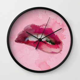 Pinky Lips Wall Clock