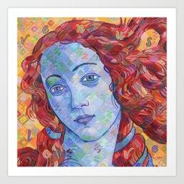 Variations On Botticelli's Venus - No. 3 (Primary Colors) Art Print