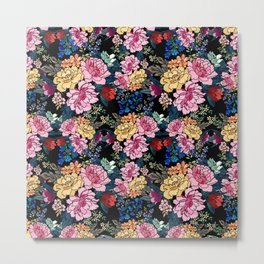 stylish winter flowers bouquets illustration Metal Print
