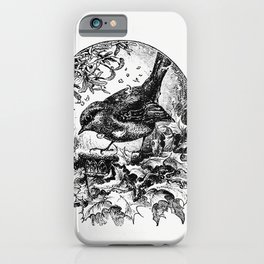 Winter bird  from The Childs Book of Poetry A selection of poems ballads and hymns (1886) iPhone Case