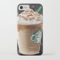 starbucks iPhone & iPod Cases featuring Starbucks by Amit Naftali