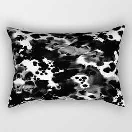 Peti - black and white minimal marble abstract painting brushstrokes modern urban hipster bklyn art Rectangular Pillow