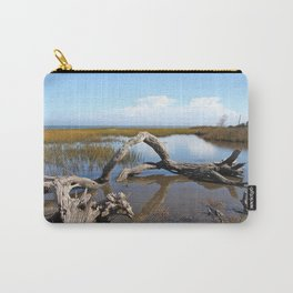 Driftwood, Quiet morning by the Sea Carry-All Pouch