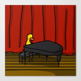 Ducky Pianist | Veronica Nagorny Canvas Print