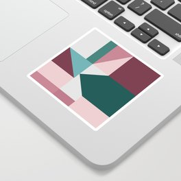 Modern Geometric 62 Sticker