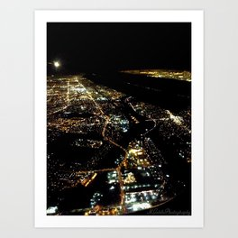 """Los Angeles Bird's Eye"" (2013) Art Print"