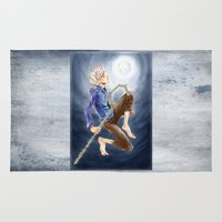 jack frost Area & Throw Rugs featuring Jack Frost by SpaceMonolith