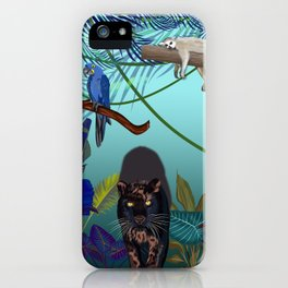 Night in the wild jungle  iPhone Case