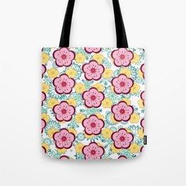 Sweet Plum Flower with Jade Snow Flake Tote Bag