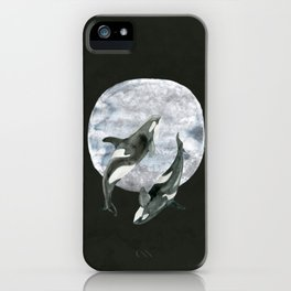 orcas' moon dance iPhone Case