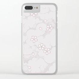 Kumori Nochi Sakura: Pink Clear iPhone Case