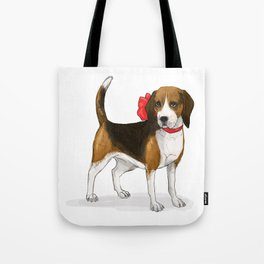 Beagle in a Bow Tote Bag