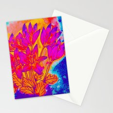 Colchicum Flower Painting Stationery Cards