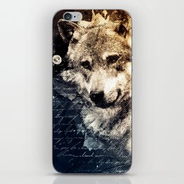 Vintage wolf, Mixed media Wolf Art, Wolf Painting, Wolf Decor, Best Wolf, Cool, Wolf iPhone Skin