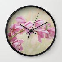 grace Wall Clocks featuring Grace by Kim Bajorek