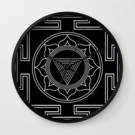 Kali yantra black symbol Wall Clock