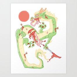 Dragon Battle Art Print